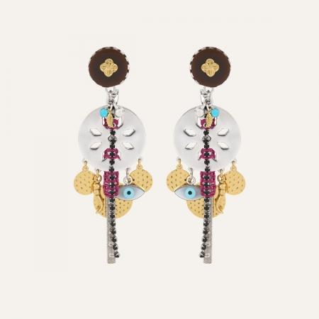 Boucles d'oreilles Charms Trèfle Ibiza