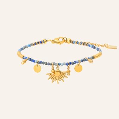 Bracelet esprit bohème bleu