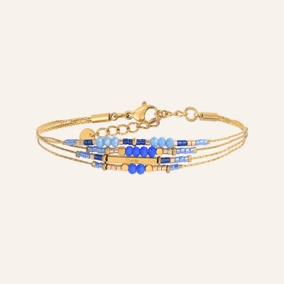 Bracelet grigris esprit bohème bleu