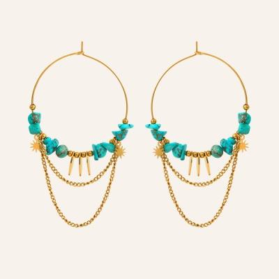 Créoles chaines turquoise soul