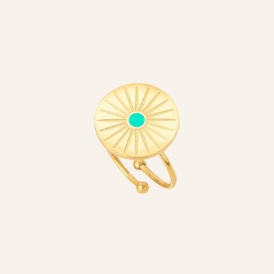 Bague soleil turquoise soul