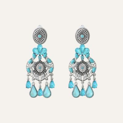 Boucles d'oreilles Charms Ethnic Turquoise