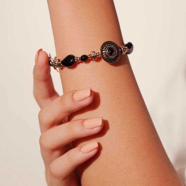 Bracelet noir Indian song