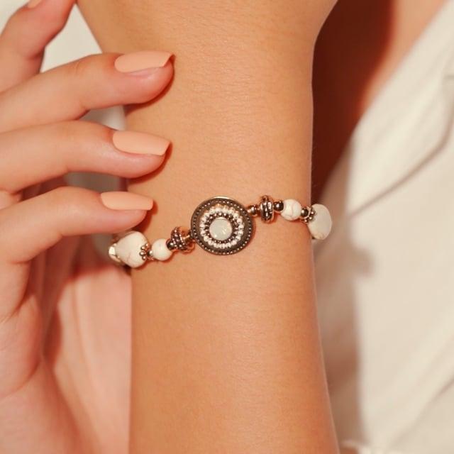 Bracelet blanc Indian song