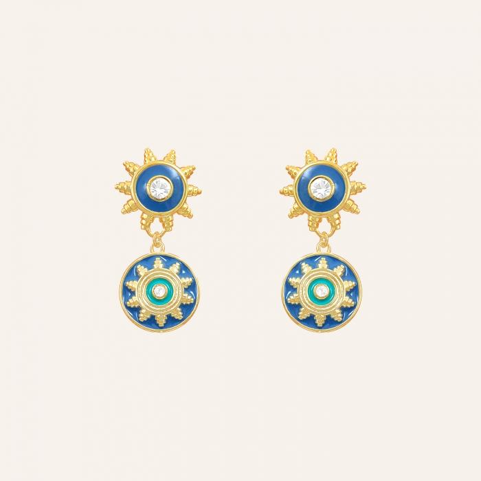 Boucles d'oreilles soleil Raphias Raffinés