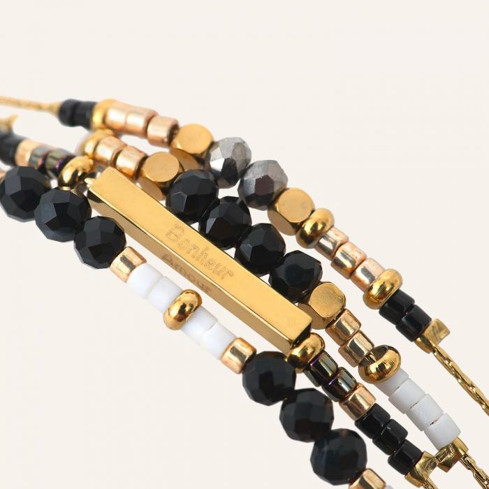 Bracelet grigris esprit bohème noir