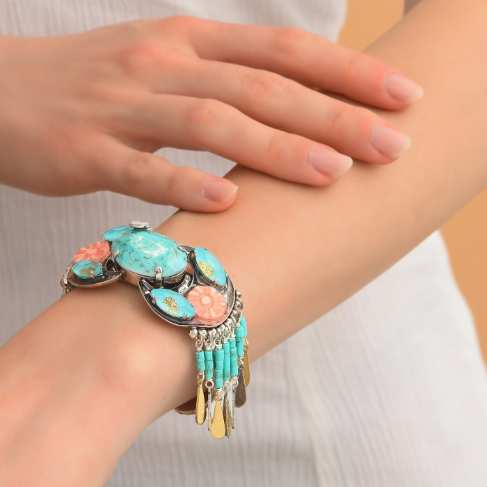 Bangle pampilles Ethnic Turquoise