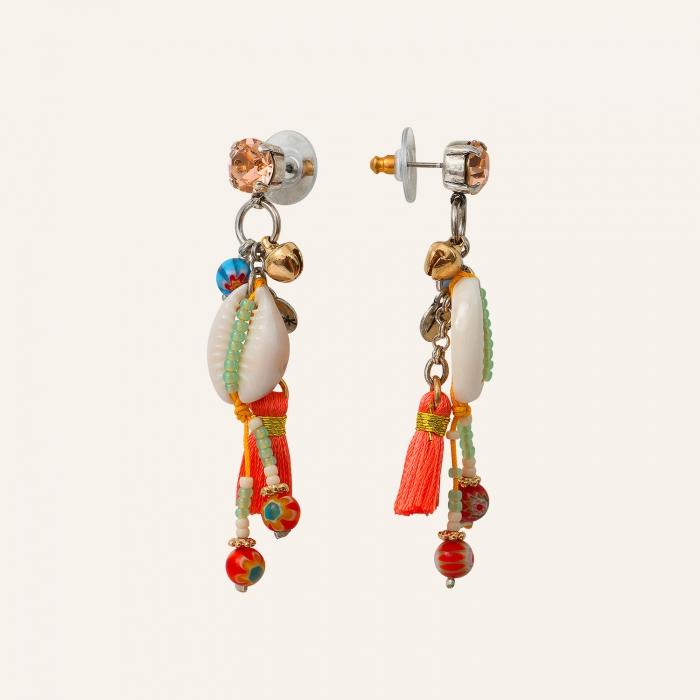 Boucles d'oreilles coquillage Goa