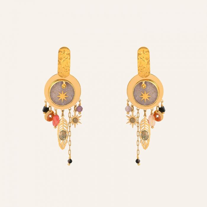 Boucles d'oreilles pendantes pampilles