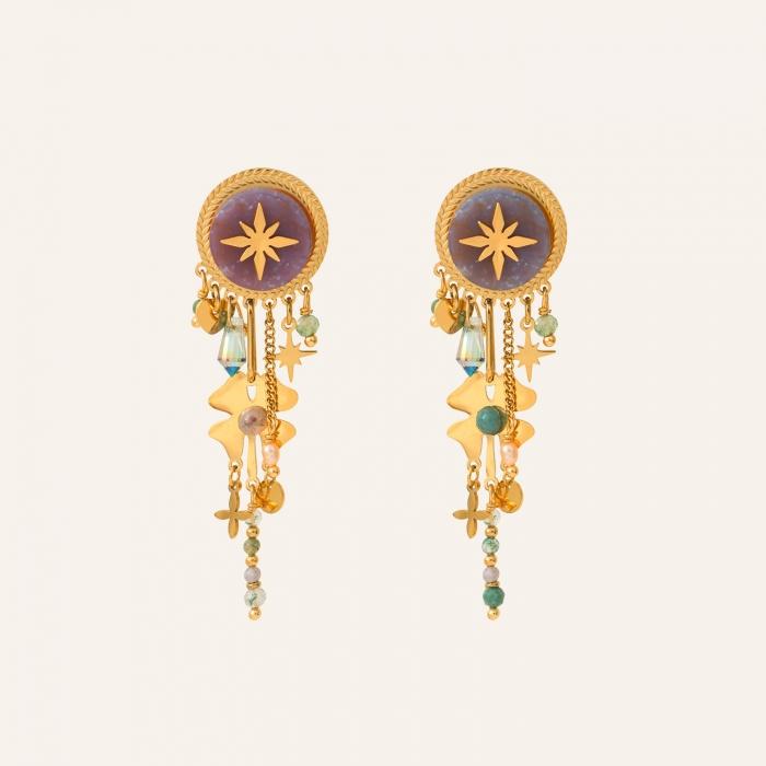 Boucles d'oreilles étoile pampilles