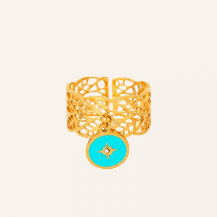 Bague dentelle turquoise soul
