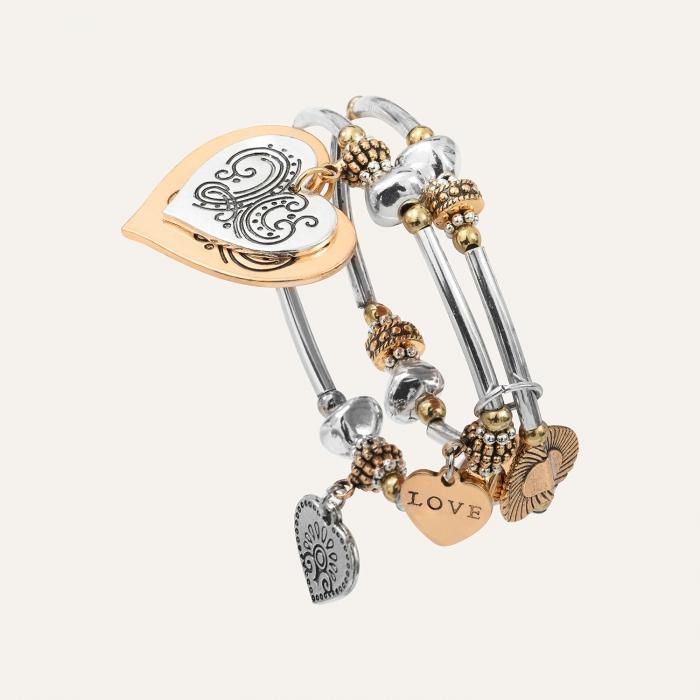 Bracelet Double Rang L'Essence du Cœur