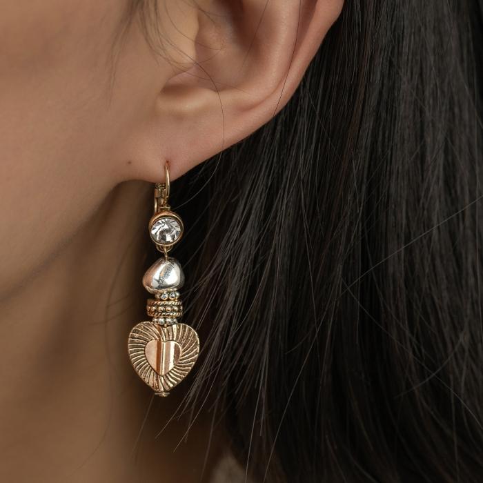Boucles d'Oreilles L'Essence du Cœur Perle Argent