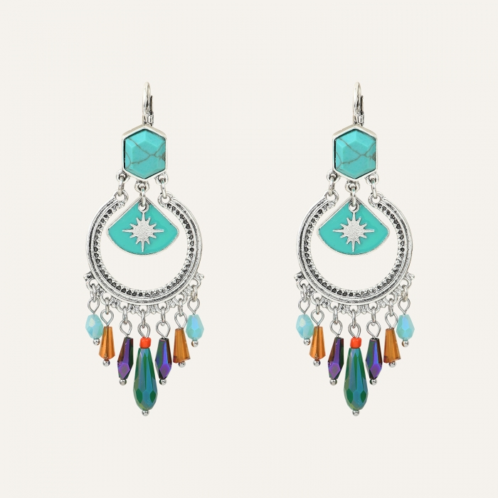 Boucles d'oreille Pampilles Indian Song Multi