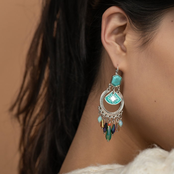 Boucles d'oreille Pampilles Indian Song Multi