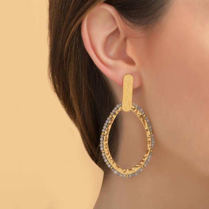 Boucles d'oreilles martelées Gypset