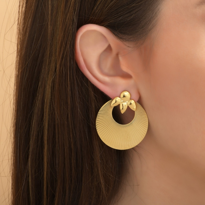 Boucles d'oreilles Pétales Gold is Back