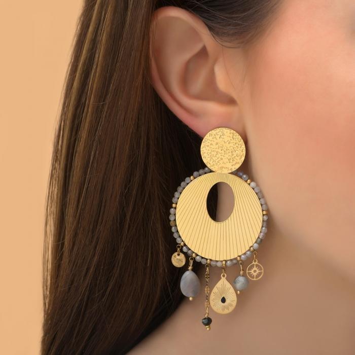 Boucles d'oreilles Gravées Pampilles