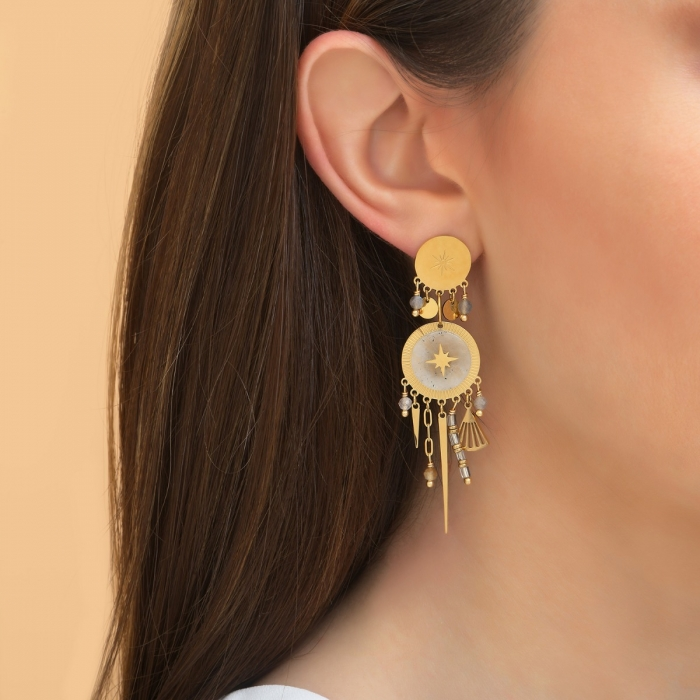 Boucles d'oreilles Disque Pampilles