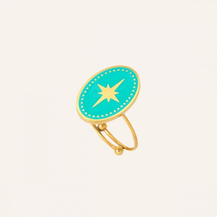 Bague étoile turquoise soul