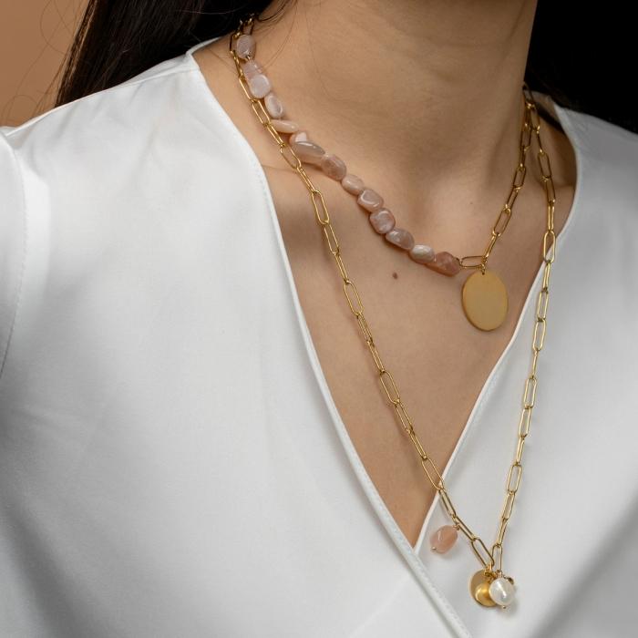 Collier Double-Rang Perle Douceur Nacrée
