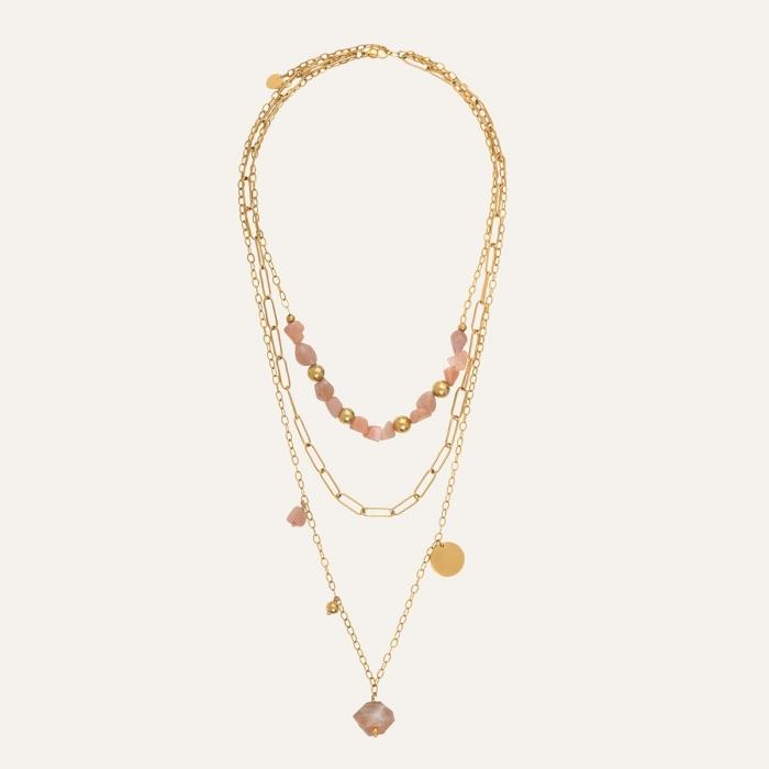 Collier Triple-Rang Perle Douceur Nacrée