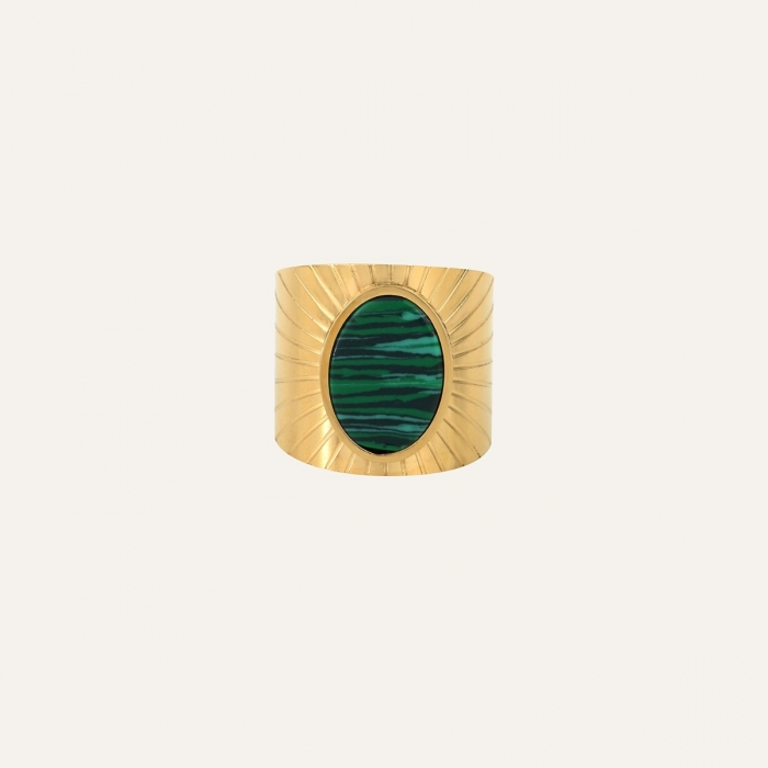 Bague Ovale Gypset Verte