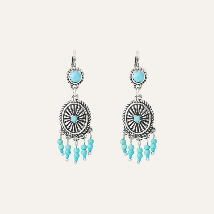 Boucles d'oreilles Perles Ethnic Turquoise