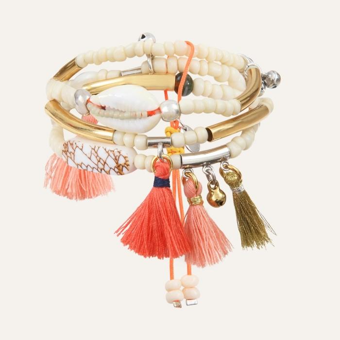 Bracelet 3 rangs Doré Goa