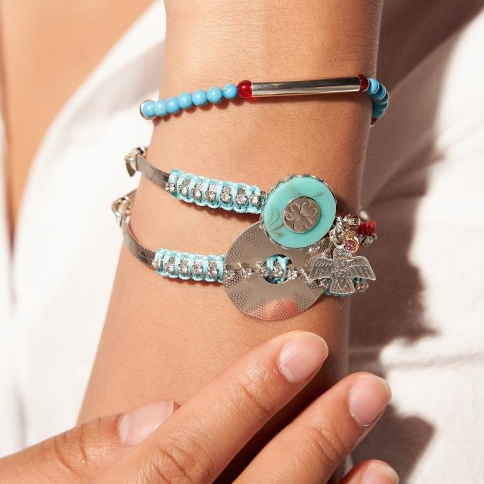 Bracelet 3 rangs Argenté Ibiza