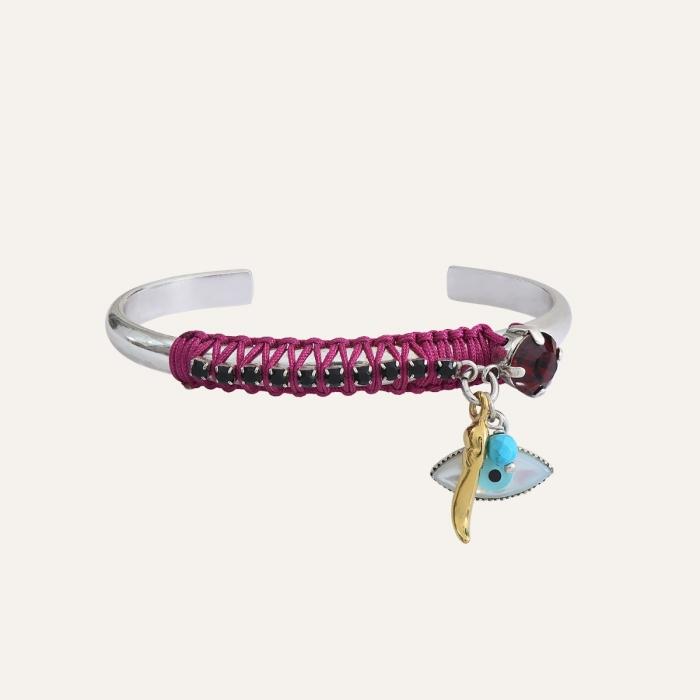 Bracelet Jonc Violet Ibiza