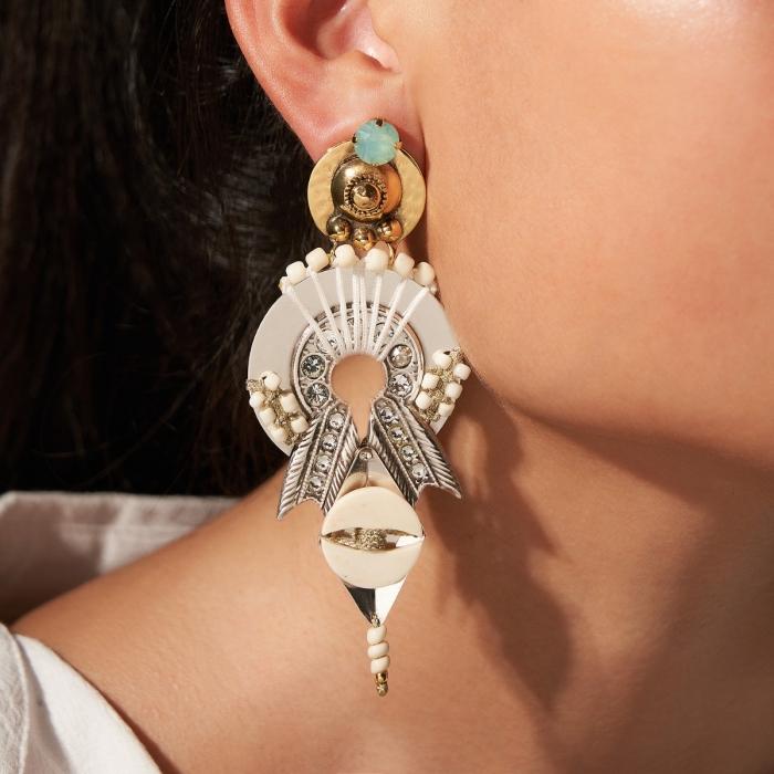 Boucles d'oreilles pendantes Divine Ibiza