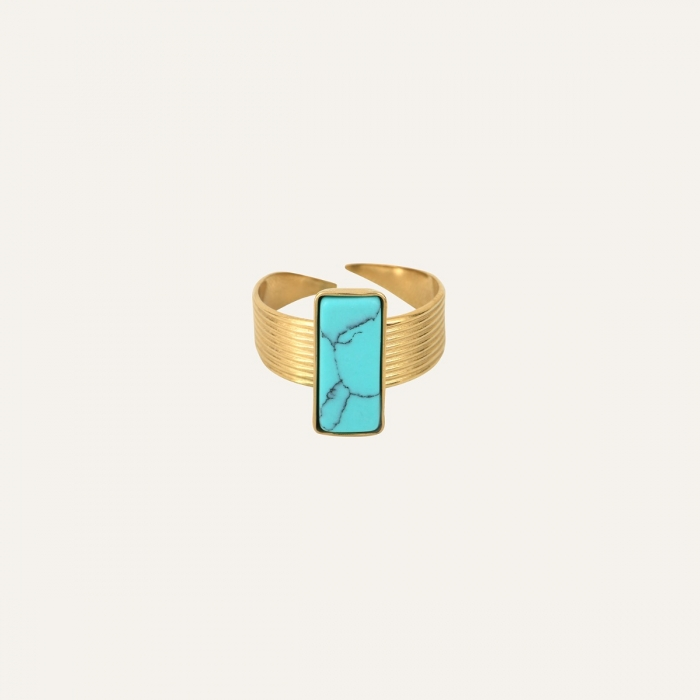 Bague Rectangle Turquoise Soul Turquoise