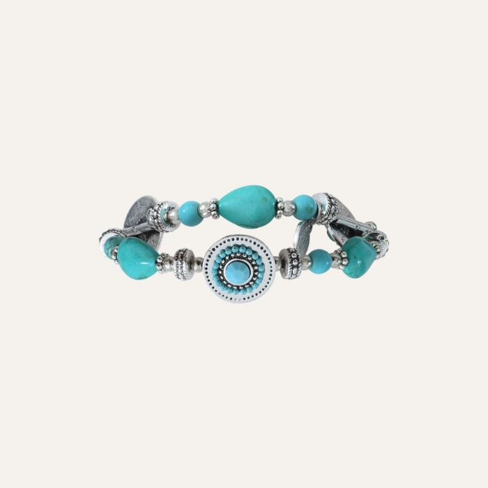 Bracelet turquoise Indian song