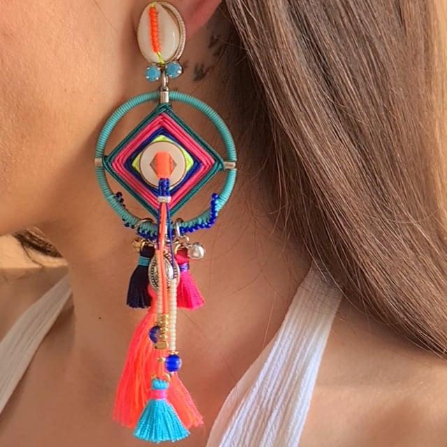 Video bijou : Boucles d'oreilles clip Goa