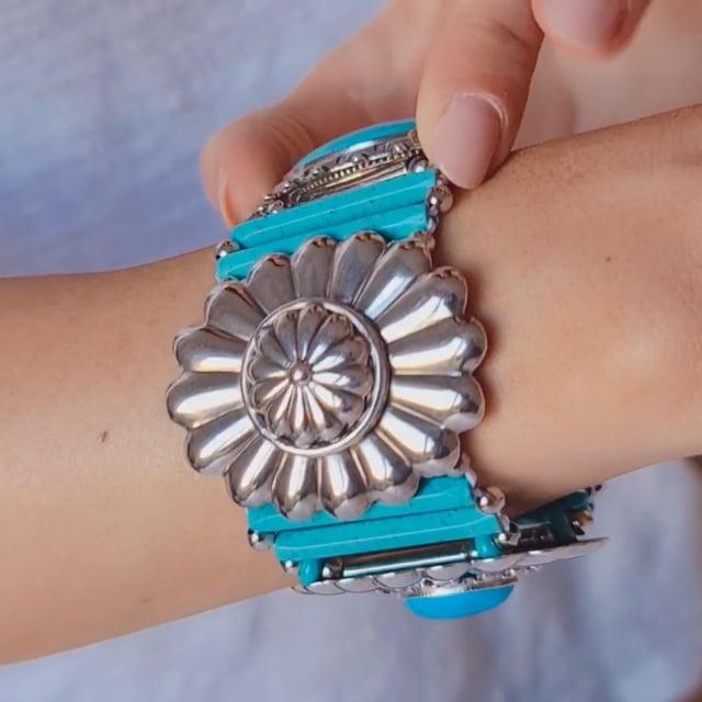 Video bijou : Bracelet fleur cœur turquoise Ethnic Turquoise