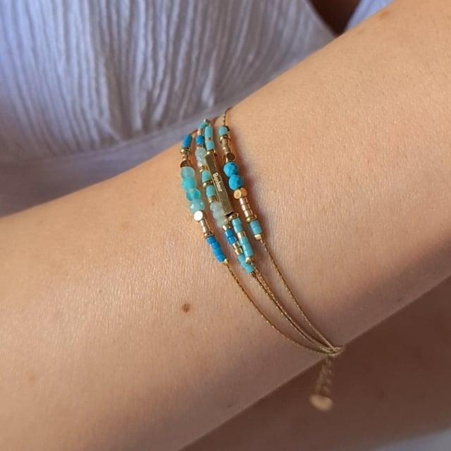 Video bijou : Bracelet grigris esprit boheme turquoise