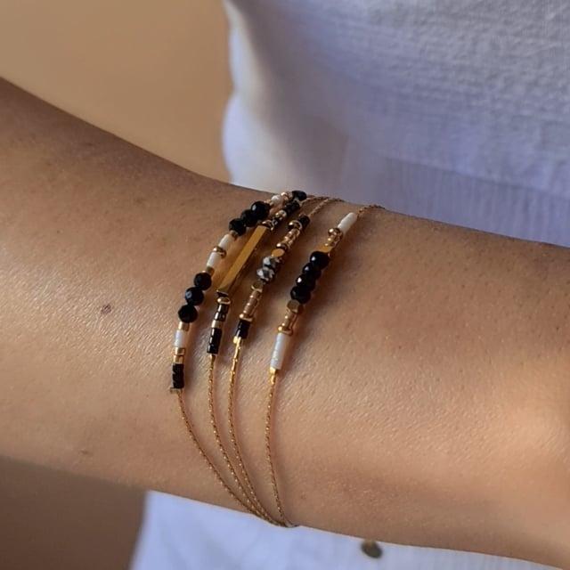 Video bijou : Bracelet grigris esprit boheme noir