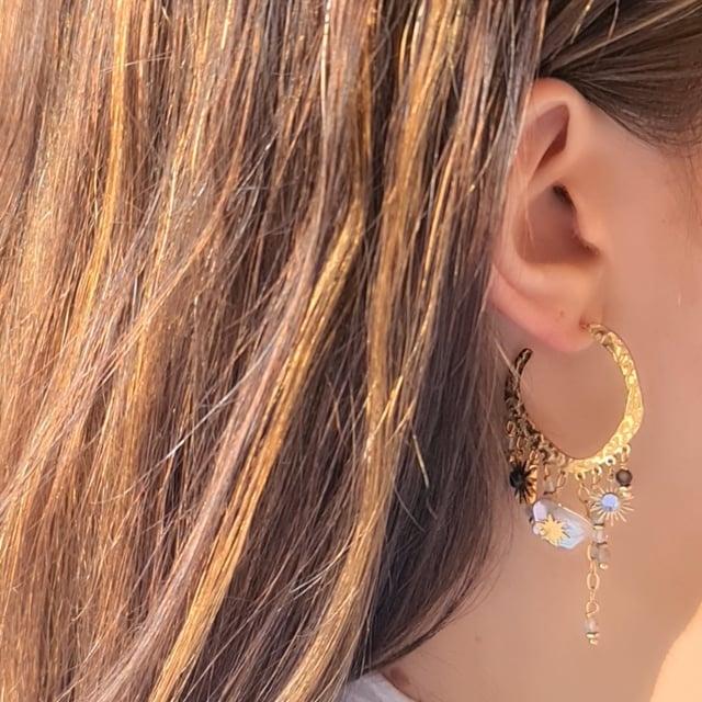 Video bijou : Boucles d'oreilles pampilles douceur nacrée