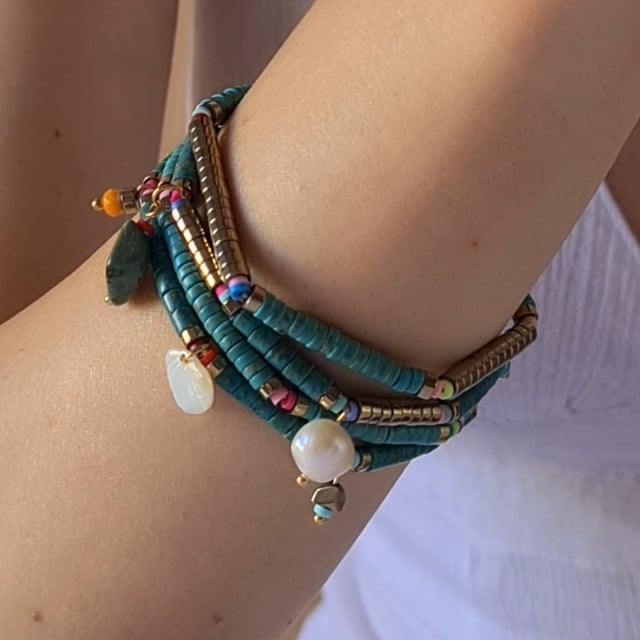 Video bijou : Bracelet pampilles californie