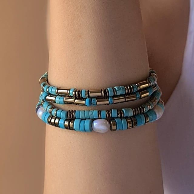 Video bijou : Bracelet turquoise californie