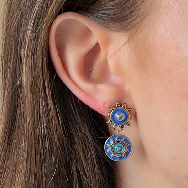 Video bijou : Boucles d'oreilles soleil Raphias Raffinés