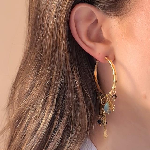 Video bijou : Boucles d'oreilles bambou pampilles
