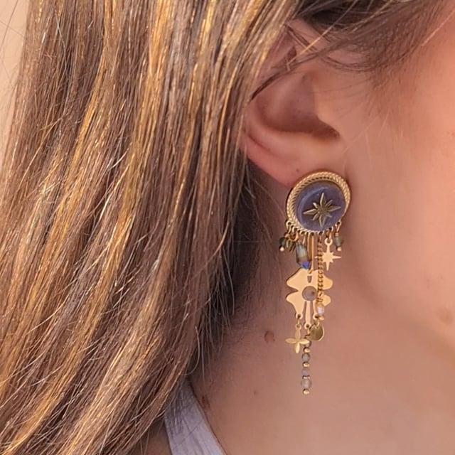 Video bijou : Boucles d'oreilles étoile pampilles