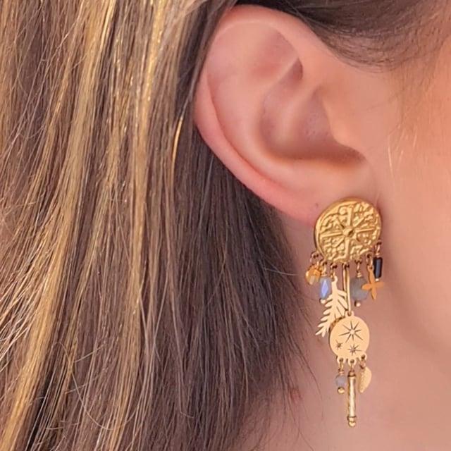 Video bijou : Boucles d'oreilles pendantes martelées pampilles