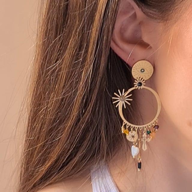 Video bijou : Boucles d'oreilles œil pampilles