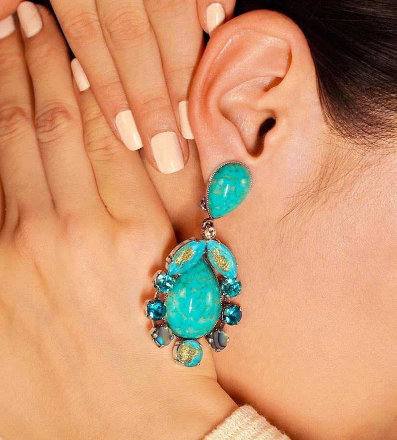 Turbes turquoises, bijoux